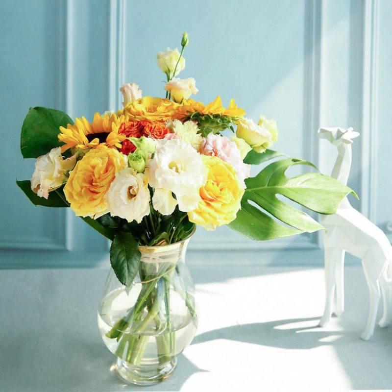 【周期购】缤纷设计鲜花包月,4次/月,一周一花,每次不一样的混搭设计鲜花