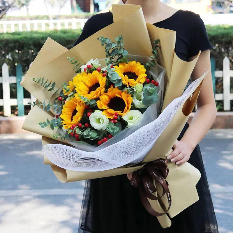 【同城专人送花上门 】向日葵鲜花混搭花束 | 阳光灿烂的太阳花朵·教师节父亲节七夕情人节生日花束