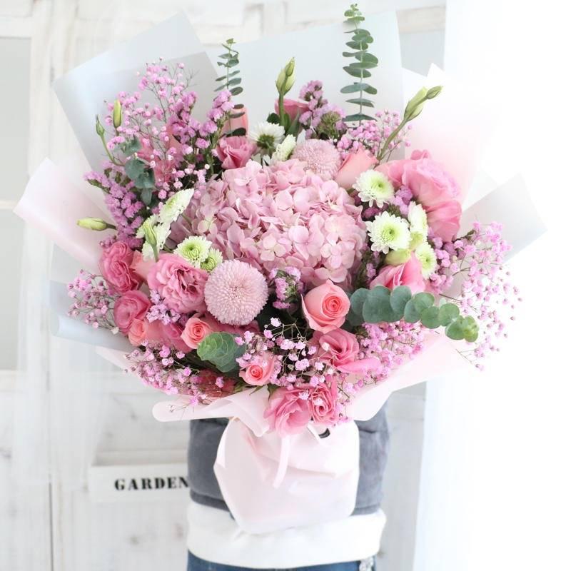 【同城韩式混搭】网红款玫瑰混搭花束七夕情人节送女友送恋人