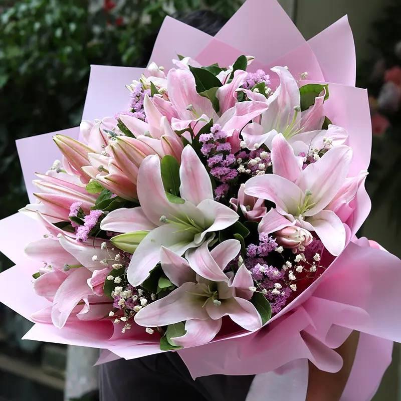 【同城百合花束】百年好合❤️生日祝福探望七夕情人节送花上门礼品礼物